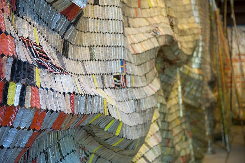 El Anatsui - - Photo copyright Didier Laget