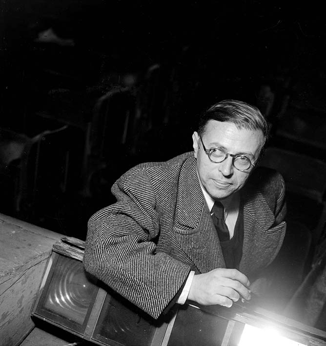 Jean-Paul-Sartre-Photo Lipnitzki