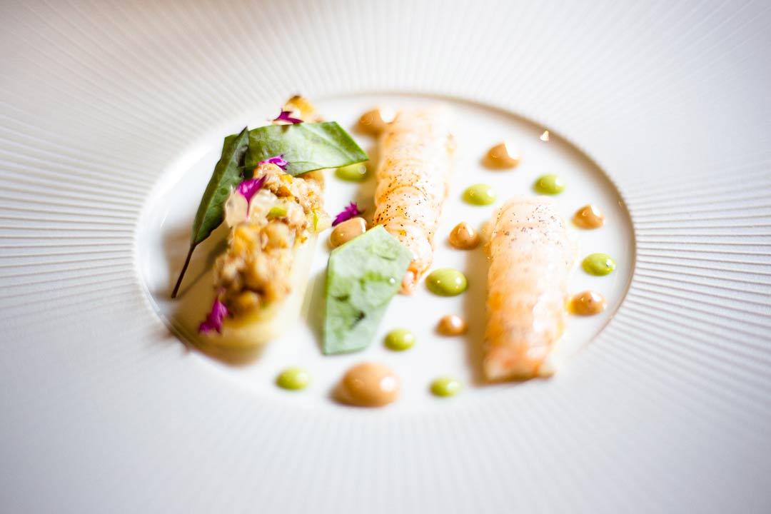 Langoustine celeri en tempura - Photo Didier Laget