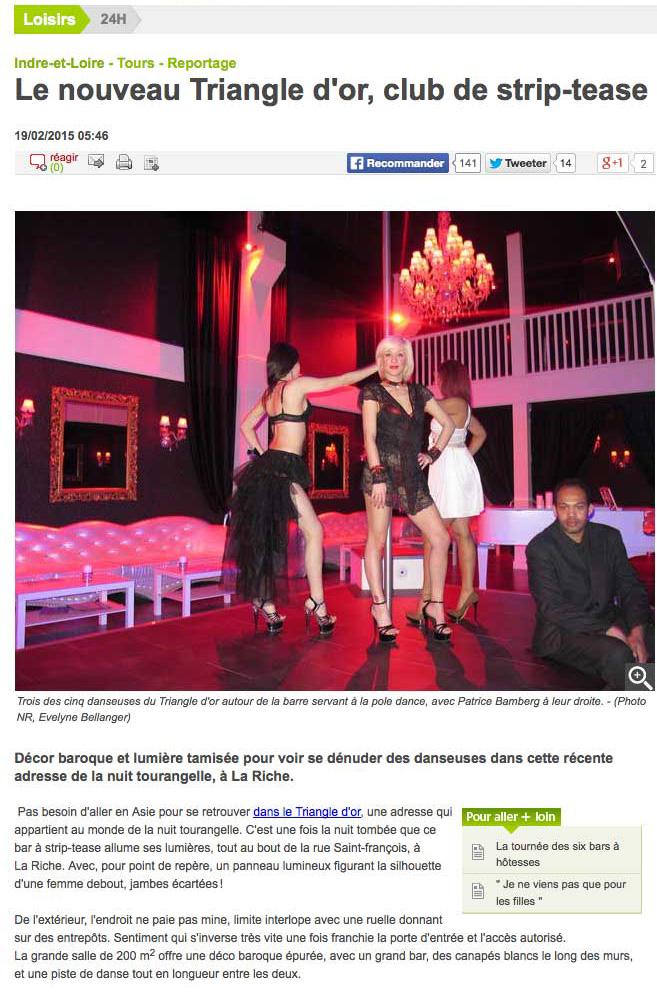 Nouvelle-Republique-strip-tease - Photo Copyright La nouvelle république