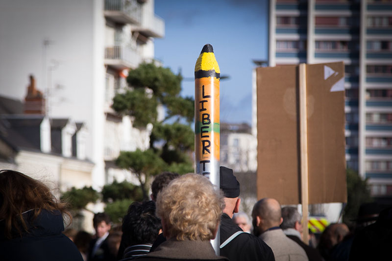 marche je suis charlie A berlin - Photo copyright Didier Laget